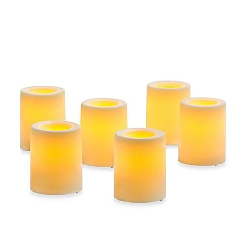 bed bath and beyond candles candle impressions 174 6 pack flameless smooth votive candles