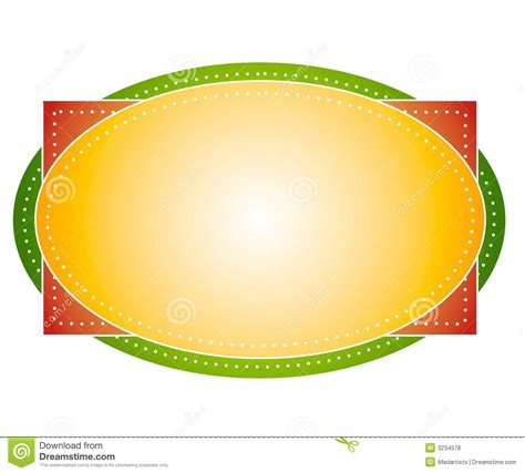 artsy colors oval logo label stock illustration image