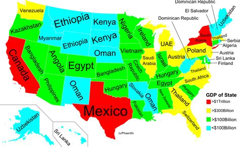 american maps with states this map shows which american states are richer than