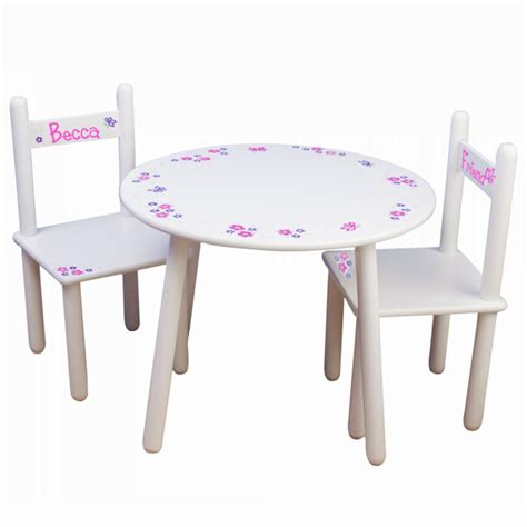 Personalized Childrens Table And Chairs by Personalized Table And Chair Set Gift Baskets
