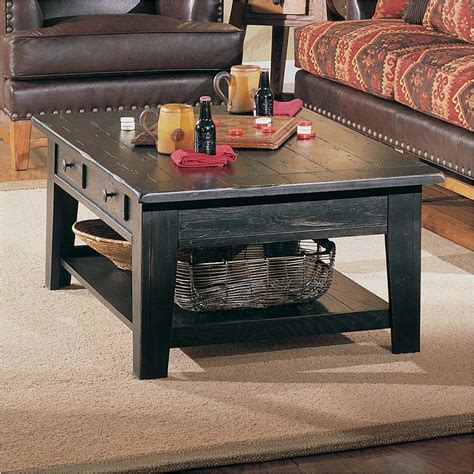 Attic Heirlooms Coffee Table 3397 01b Broyhill Furniture Rectangular Cocktail Table Black