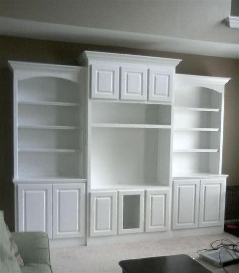 built  entertainment center plans built  bookcase