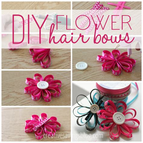 How To Make Hair Accessories At Home Easy by Diy Flower Hair Bows Kalyn