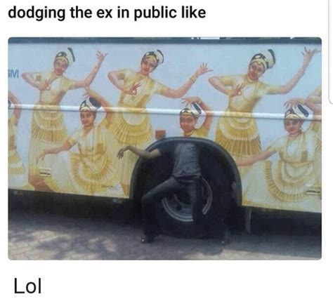 the ex dodging the ex in public like lol lol meme on sizzle