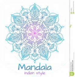 mandala thin line indian style stock vector image 55456834