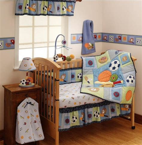 Baby Boy Sports Crib Bedding Sets Home Furniture Design Boy Crib Bedding Set
