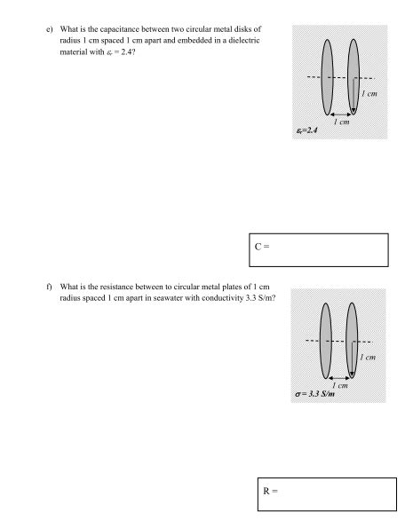 a circular parallel plate capacitor of radius r is being charged the capacitance of a circular disk capacitor in v chegg