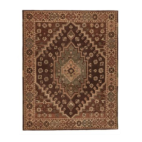 Area Rugs Home Decorators Home Decorators Collection Izmir Chocolate 8 Ft X 10 Ft Wool Tuft Area Rug 98504 The Home Depot