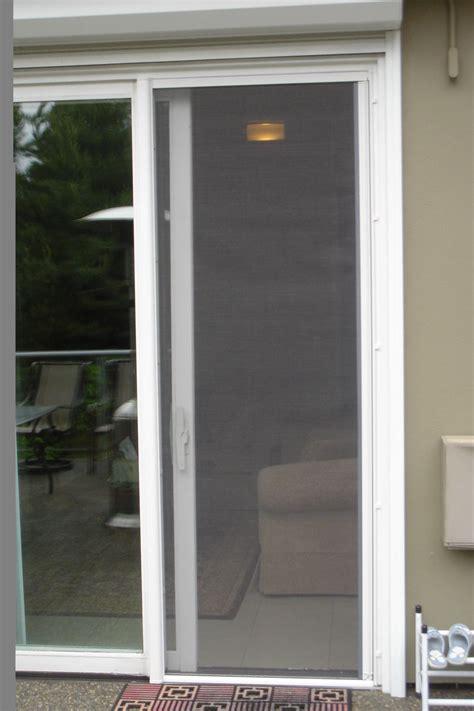 sliding screen door door omnifine retractable screen door and window vancouver photo gallery