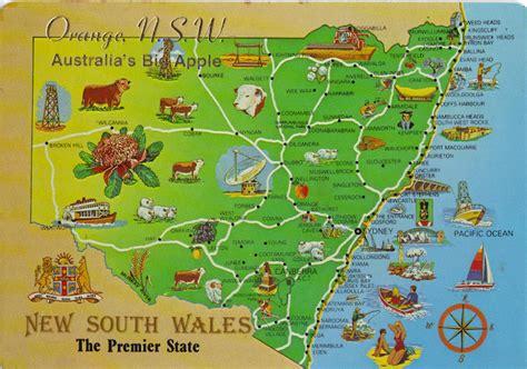 orange map australia nature s gifts postcard range orange nsw