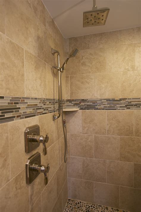 This master bath remodeling project involved removing the