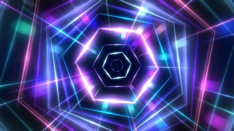 neon background hexagon neon light vj background motion background