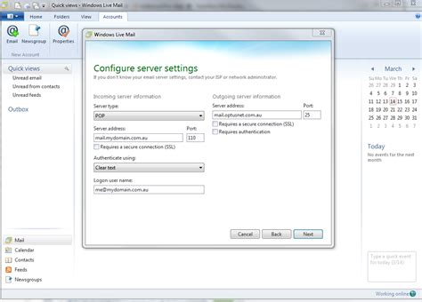 windows 10 live mail tutorial windows live mail configuration web24