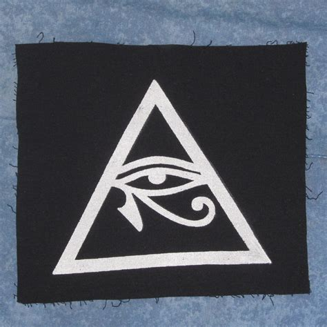 illuminati symbol eye illuminati symbol eye of horus in triangle patch large