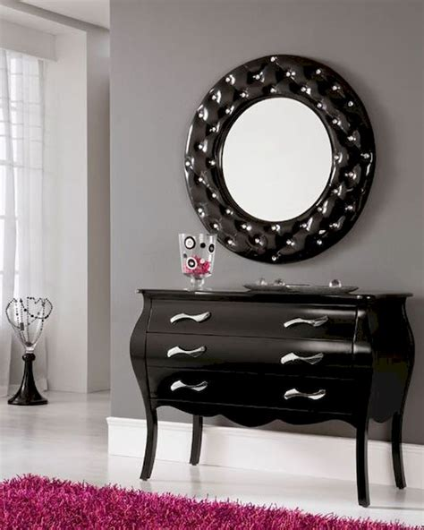 console table and mirror modern console table and mirror set in black 33c101