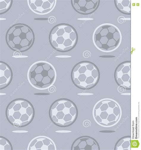 pattern over background seamless soccer ball pattern over gray stock vector