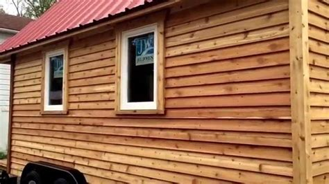 house with cedar siding finishing cedar siding for tiny house teas youtube