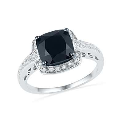 7 0mm cushion cut faceted onyx and accent