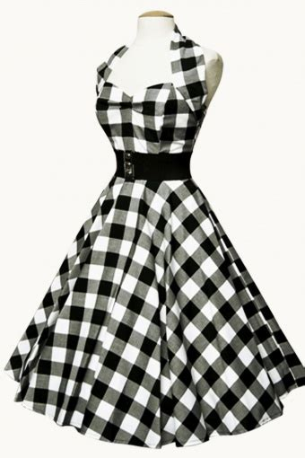 swing limited limited collection halter gingham black swing dress