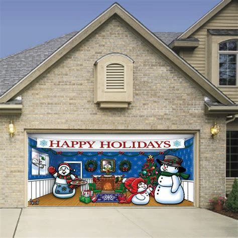 merry christmas garage door cover garage doors elite gd