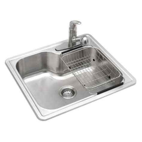 Glacier Bay All In One Top Mount Stainless Steel 25 In 3 Glacier Bay Kitchen Sink