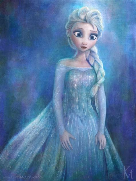 painting elsa elsa disney s frozen by kevmcgivernart on deviantart