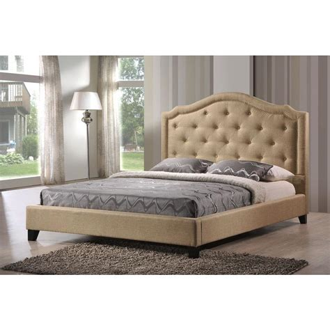 LuXeo Brentwood Beige King Upholstered Bed-LUX-K6375-BGE ...