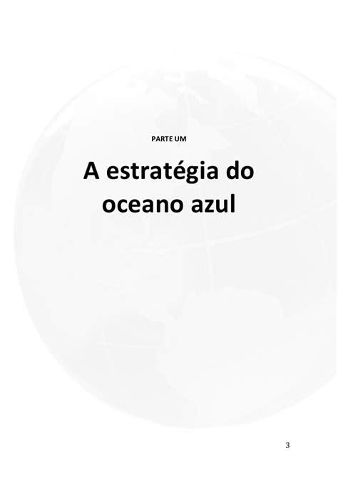 Estratégia Oceano Azul livro resumo