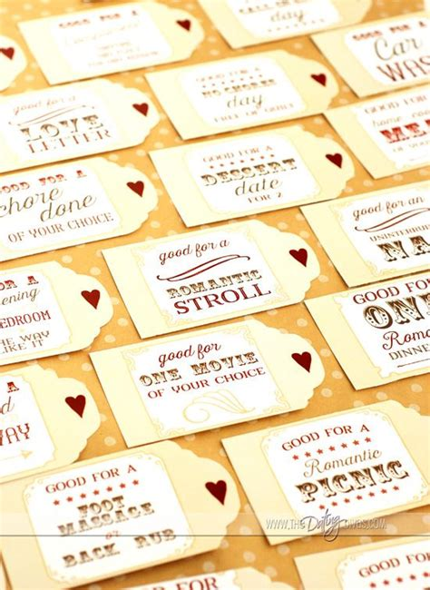 printable love coupon book diy valentines day gift for
