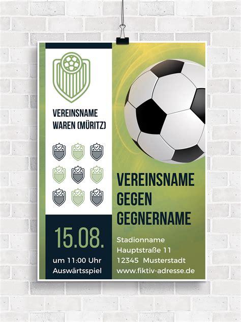 Indesign Flyer Vorlage Kostenlos designs f 252 r sportvereine turnierplan erstellen autogramm