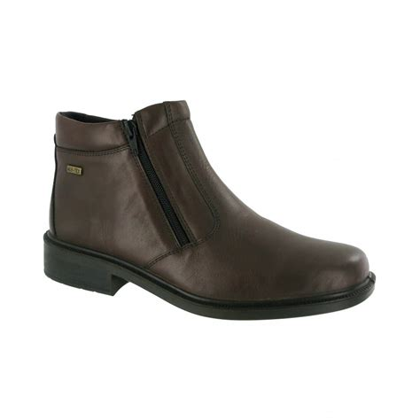 cotswold kelmscott brown leather waterproof zip boot