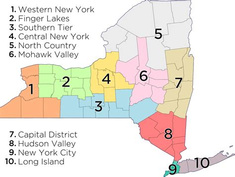 sections of new york file map of new york economic regions svg wikipedia
