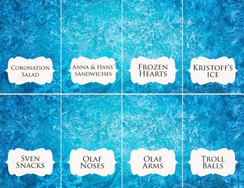 printable frozen table cards download disney frozen food place cards rambling renovators