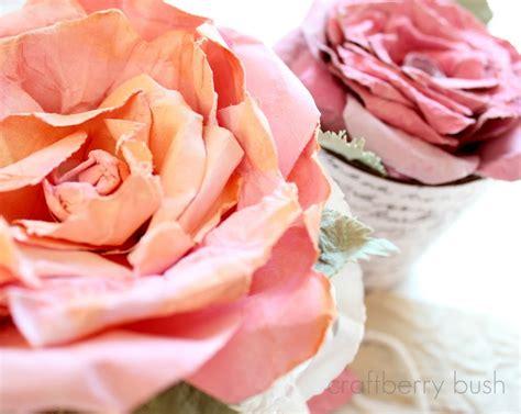 watercolor paper flower tutorial love blooms faux mulberry watercolor paper rose tutorial