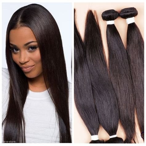 images of the weave on hair for the year 2015 4 bundles 18 quot remy virgin brazilian straight human hair