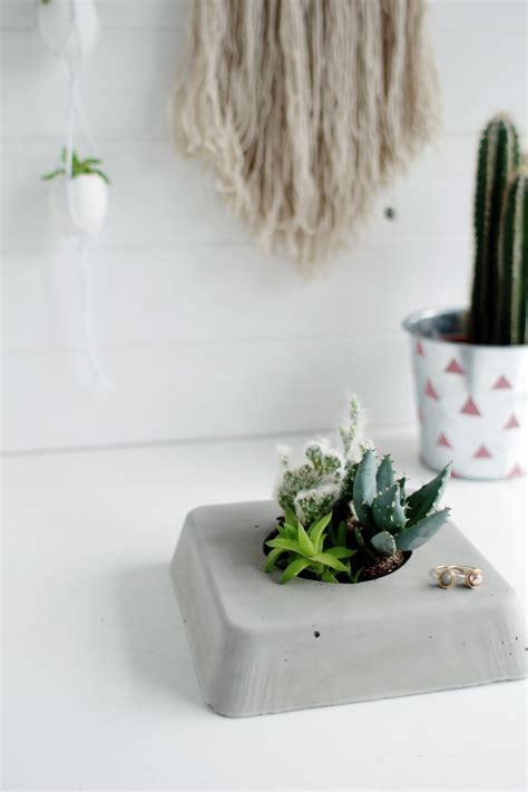 succulent planter diy concrete succulent planter
