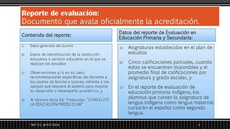 ejemplo de reporte de evaluacion de preescolar por cos evaluaci 243 n acreditaci 243 n promoci 243 n y certificaci 243 n de la