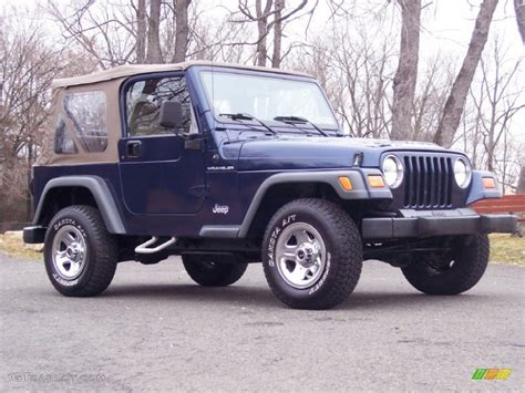 Patriot Blue Jeep Patriot Blue Pearl 2001 Jeep Wrangler Se 4x4 Exterior