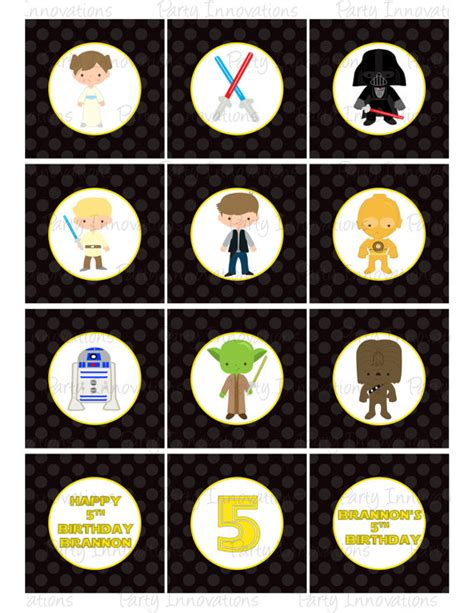 printable lego star wars cupcake toppers gallery star wars cupcake toppers printable