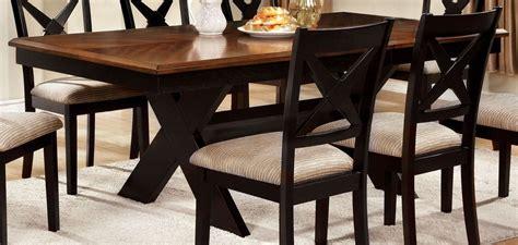 Trestle Dining Room Table Sets Liberta Oak Rectangular Trestle Dining Room Set From Furniture Of America Cm3776t Table