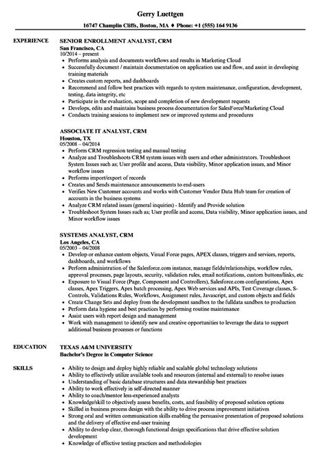 Sap Functional Analyst Cover Letter by 87 Sap Crm Resume Sles Crm Resume 2013 Byron Long1859 Fulton San Francisco Ca