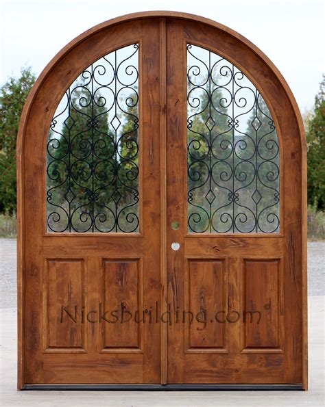 Arch Doors Interior Rustic Wood Interior Door With Arched Top