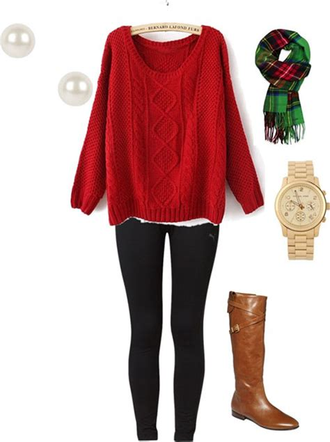 causual christmas ouitfit ideas for womens 20 polyvore combinations