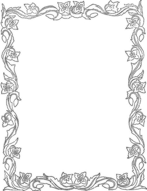 Coloring Page Border by Free Coloring Pages Of Frame Or Border