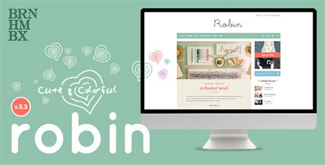 moodle themes for sale robin cute colorful blog theme by burnhambox themeforest