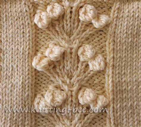 the big knit 2011 patterns nosegay stitch knitting pattern knitting bee