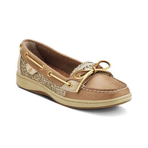 sperrys shoes sperry top sider angelfish boat shoes in brown lyst