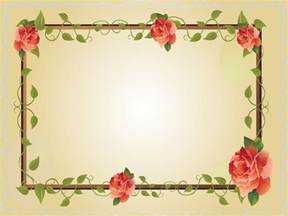 red rose flower frame ppt backgrounds border amp frames