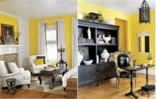 Living room designs white yellow flower airy spring living