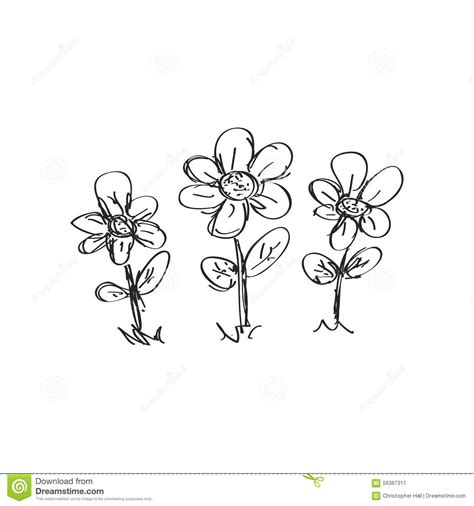 doodle flower simple simple doodle of a flower stock vector image of summer